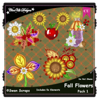 Fall Flowers Elements CU/PU Pack 1